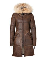 Featured. Parajumpers | Brown Chestnut Tijuana Shearling ...