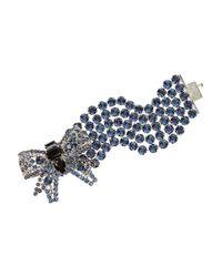 Miu Miu | Metallic Crystal Bow Bracelet | Lyst