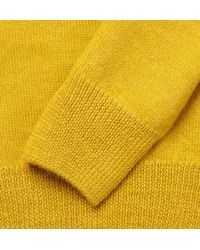 A.P.C. - Yellow V-Neck Wool and Alpaca Blend Sweater for Men - Lyst