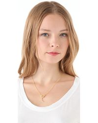 Elizabeth and James - White Sapphire Ruby Meadowlark Snake Necklace - Lyst