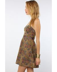 Free People - Green The Foiled Tapestry Dress  - Lyst