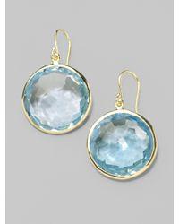 Ippolita - Lollipop Blue Topaz & 18k Yellow Gold Large Drop Earrings - Lyst