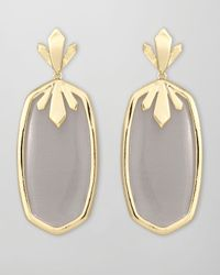 Kendra Scott | Cushion Cabochon Earrings Black | Lyst