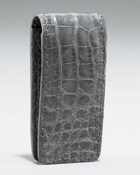 Santiago Gonzalez | Crocodile Money Clip, Gray for Men | Lyst