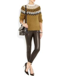 A.L.C. - Green Lottie Alpaca Angora and Wool-Blend Sweater - Lyst