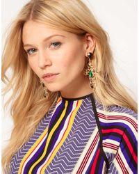 ASOS - Multicolor Jewel Cross Earrings - Lyst