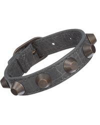 Balenciaga | Gray Arena Classic All Stud Bracelet | Lyst