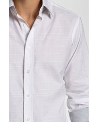 Bugatchi | White Shaped Fit Sport Shirt for Men | Lyst