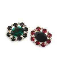 Marni | Metallic Set Of Two Crystal Brooches | Lyst