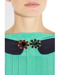 Marni - Metallic Set Of Two Crystal Brooches - Lyst
