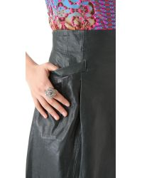Nanette Lepore - Green Supernatural Leather Skirt - Lyst