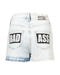 TOPSHOP | Blue Denim Shorts By Fifis Factory | Lyst