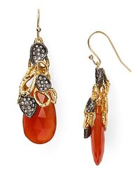 Alexis | Red Bittar Siyabona Sunset Gold Carnelian Petal Cap Earrings | Lyst