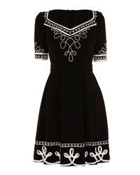 Alice By Temperley | Black Mini Blake Dress | Lyst