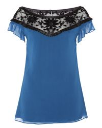 Alice By Temperley | Blue Vanessa Top | Lyst
