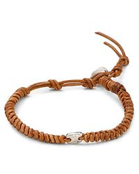 Chan Luu - Brown Leather Knot Bracelet for Men - Lyst