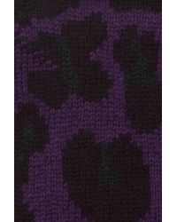 Christopher Kane | Purple Intarsia Cashmere Fingerless Gloves | Lyst
