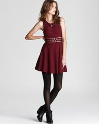 Free People - Red Dress Daisy Waist Woven Lace - Lyst
