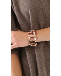 Juicy Couture - Metallic Stretch Chain Bracelet - Lyst
