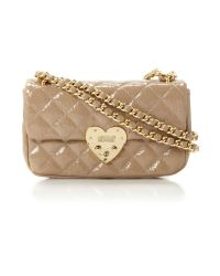 Boutique Moschino | Natural Matelasse Heart Quilted Chain Shoulder | Lyst