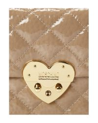 Boutique Moschino   Beige Matelasse Heart Quilted Chain Shoulder   Lyst