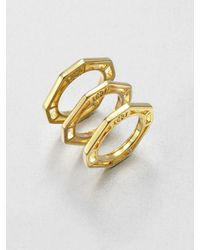 Tory Burch - Metallic Audrina Octagon Stacking Rings - Lyst