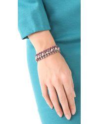 DANNIJO - Metallic Breast Cancer Awareness Vika Bracelet - Lyst