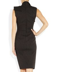 Donna Karan New York | Gray Origami Wool-Blend Dress | Lyst