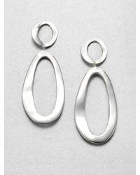 Ippolita | Metallic Glamazon Sterling Silver Long Wavy Oval Snowman Drop Earrings | Lyst