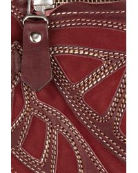 Isabel Marant | Ballwin Embroidered Leather and Suede Shoulder Bag | Lyst