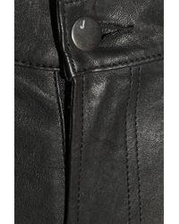 J Brand | Black Stretch leather Skinny Pants | Lyst