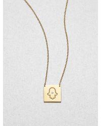Jennifer Zeuner - Metallic Hamsa Pendant Necklace - Lyst