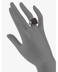 John Hardy   Metallic Pave Black Sapphire Ring   Lyst