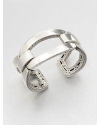 John Hardy   Metallic Classic Chain Sterling Silver Link Cuff Bracelet   Lyst