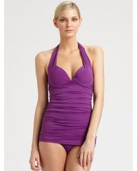 Natori | Purple One-piece Push-up Swimsuit | Lyst