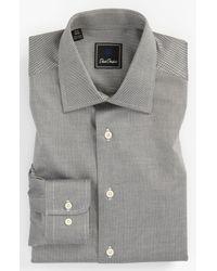 David Donahue | Black Regular Fit Dress Shirt for Men | Lyst