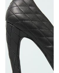 Jeffrey Campbell | The Battle Shoe in Black Quilt and Gold | Lyst