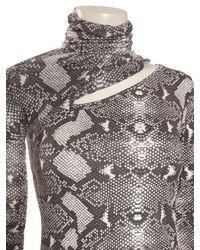 Balmain - Multicolor Contrast Sleeve Split Tshirt Snake Print - Lyst