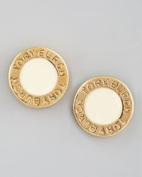 Tory Burch | Metallic Cole Logo Stud Earrings  | Lyst