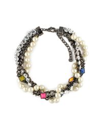 Fenton | Metallic Shinde Pointed Gem Collar | Lyst