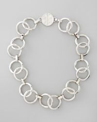 Tory Burch | Metallic Rings Necklace  | Lyst