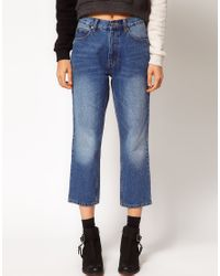 Cheap Monday | Blue 90s Cropped Jeans | Lyst