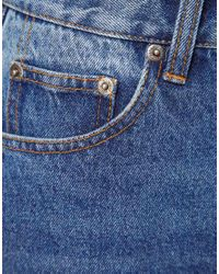 Cheap Monday - Blue 90s Cropped Jeans - Lyst