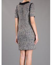 Lanvin   Gray Embellished Dress   Lyst