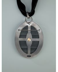 Lanvin | Black Bow Pendant Necklace | Lyst