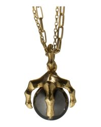 Kara Ross | Gray Claw Ball Pendant Necklace | Lyst