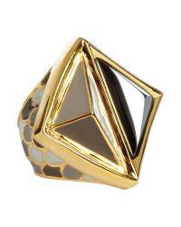 Kara Ross | Metallic Chinese Gemstone Ring | Lyst