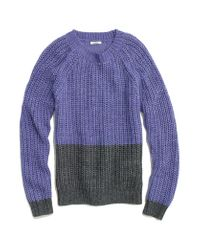 Madewell | Purple Colorblock Bookmark Sweater | Lyst