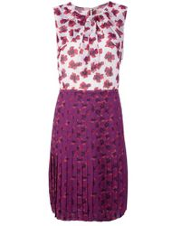 Tory Burch   Floral Pleated Dress   Lyst