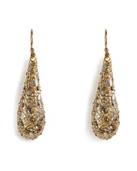 Alexis Bittar | Metallic Crystal Encrusted Goldplated Small Tear Earrings | Lyst